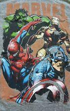 NWT Marvel Graphic Tee Tshirt men's size Medium Gray Hulk Spiderman Iron Man