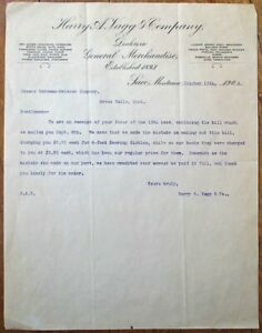 Saco, MT 1903 Letterhead: Harry A. Vagg & Co. - Montana Mont