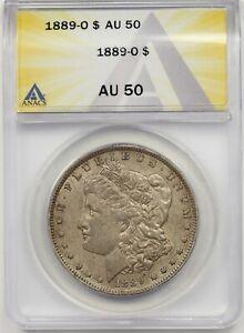 1889-O $1 ANACS AU 50 Morgan Silver Dollar