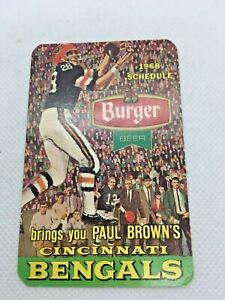 1968 Paul Brown's Cincinnati Bengals Football Schedule Burger Beer #DE