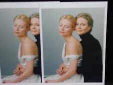 2 vintage photo postcards Gwyneth Paltrow, Blythe Danner mother-daughter pair