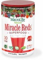 Macrolife Miracle Reds Vegan Antioxidant SuperFood 10 oz, 30 Serves IMMUNE BOOST