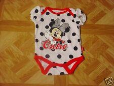 Disney Minnie Mouse Newborn Infant Girl Bodysuit Size Newborn