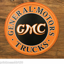 Hotrod Gmc Metal Tin Wall Sign Plaque American General Motors Garage Advertising