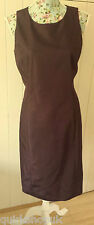 JOSEPH french designer tonal red shantung party / cocktail shift dress 10 38 NEW