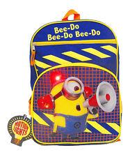 DESPICABLE ME- Bee-do.Fireman - Backpack School Bag Rucksack-NEW-Flashing Lights