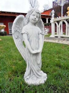 Statue, Engel, 50 cm, Steinguss, Grabengel, Steinfigur, Gartendeko, Gartenfigur