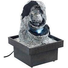 """Zierbrunnen: Zimmerbrunnen """"Felsenquelle"""" mit Pumpe und LED, ca. 20 cm"""