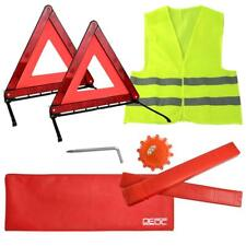 Car Warning Triangle Reflective Emergency Breakdown High Visibility Vest Kit