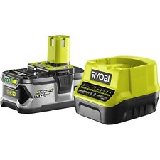 Ryobi 18V One+ 5.0Ah Battery and Charger compatible with over 60 Ryobi One+tools