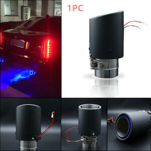1PC Carbon Fiber Light Weight LED Exhaust Tip Car Muffler Pipe Decoration Light