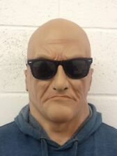 Realistic Latex Old Man Mask Halloween Fancy Scary Gangster Boss Dress Bruiser