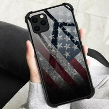 iPhone 11 Case 9H Tempered Glass Shockproof Boys Men Anti Scratch Stone Flag
