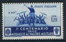 Italia Regno 1934 Sass. 373 Nuovo ** 100% Medaglie al Valor Militare