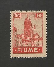 Fiume #30a VF MINT - 1919 10c Italian Flag On Clock-Tower In Fiume SCV $25