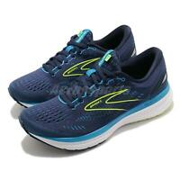 Brooks Glycerin 19 2E Wide Blue Yellow Men Cushion Road Running Shoe 1103562E443