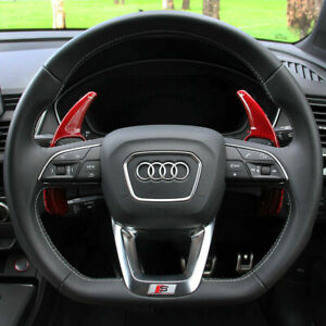 Audi Red Carbon Fibre Paddle Shifter Extensions TT A3 A4 A5 A6 S3 S4 S5 S6 2017+