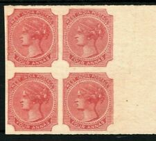 INDIA QV Stamp PROOF/COLOUR TRIAL/ESSAY 4a Red (1866) Marginal Block 4 RARE SS38