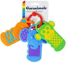Sassy Garanimals Baby Kids Children Click Clack Rattle Teether Charm Keys Toy