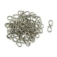 50pcs Antique Silver S Hook Fish Eye Clasp For Necklace Bracelet 23 x 9 mm