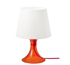 Ikea LAMPAN Table lamp, soft, cosy mood light, orange/white29 cm , Table Lamp,