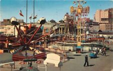 Amusement 1958 Nu Pike rides LONG BEACH CALIFORNIA Crocker postcard 3220
