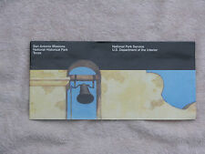 SAN ANTONIO MISSIONS OFFICIAL MAP & GUIDE NATIONAL PARK SERVICE 1990 FOLD-OUT