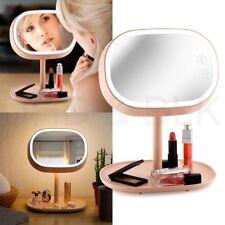 Makeup Mirror  Adjustable USB Charging LED Cosmetic Vanity  Table Lamp Bedroom