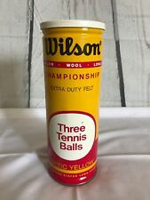 Vintage Wilson Championship Tennis Balls In Can 3 Pre-Owned Wool Nylon Balls