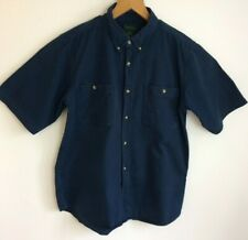 """Scandia Woods cotton shirt size large pit to pit 23.5"""" blue short sleeves"""