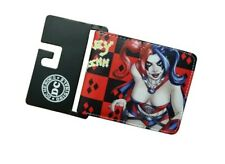 Red Harley Quinn Batman Death Squad  Leather Bifold Money Coin Card Wallet