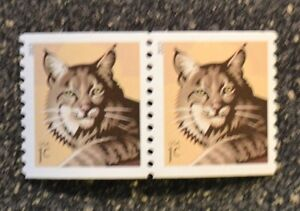 2013USA #4802 1c Bobcat - Coil Pair  Mint  NH     .01 cent