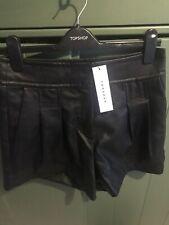 Topshop Faux Leather Shorts M