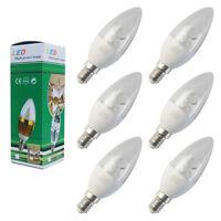 6x E14 8W LED Candle Bulb SES Lamp Warm White 2700k Small Edison Screw Spotlight