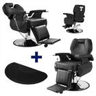 All Purpose Hydraulic Recline Barber Chair Hair Styling Spa with Salon Mat Black