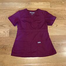 Grey's Anatomy Women's Mock Wrap Scrub Top 4153 Wine? Purple Size Xs Extra Small
