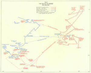 PACIFIC OCEAN. Battle of Midway 4th June 1942 1956 old vintage map plan chart