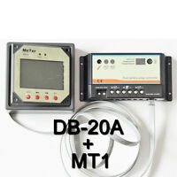 20A Dual Battery Solar Panel Charge Controller Battery Regulator + MT1 meter