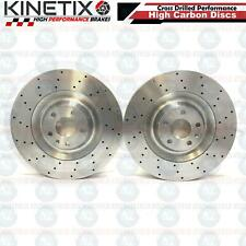FOR AUDI A8 S6 S8 FSi 5.2 FRONT DRILLED KINETIX PERFORMANCE BRAKE DISCS 385mm HC