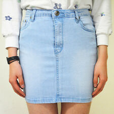 WAKEE LIGHT BLUE DENIM SKIRT. SIZE 6-16.