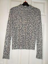 Topshop Animal Print Long Sleeve Tops & Shirts for Women