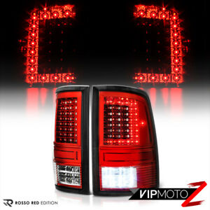 [FACTORY RED] 2009-2018 Dodge Ram 1500 2500 3500 FULL LED Tail Lights Lamps Set