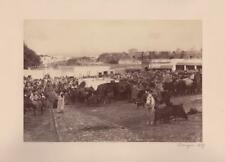 1 larger format photo Tangier 1889; marketplace.