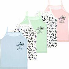 5 Stück Kinder Mädchen Unterhemden Spagettiträger Tank Top Unterwäsche 110-152