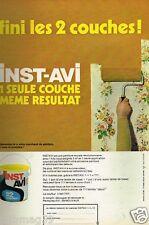 Publicité advertising 1972 La peinture Inst AVI