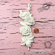 """Shabby Chic Furniture Appliques """"Not Too Shabby Rose Vine (Left-Large)"""""""