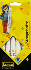 Stempelstifte 6 Stück 2 in 1 Fasermaler und Stempelstift in einem Stärke 2-6 mm