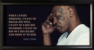Mike Tyson Framed Photo Motivational Poster