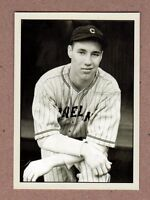 Bob Feller Cleveland Indians signature photo card Plutograph serial #/200