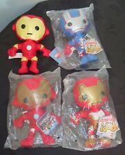 Bundle of 4 Iron Man Soft Plush toys. Different Styles. Funko. New with tags